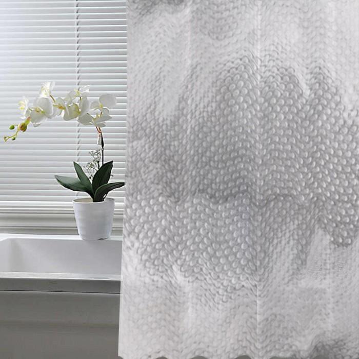 Шторы для ванны Crystal Shine Штора для ванной комнаты ПВХ 200-C 180х180 см
