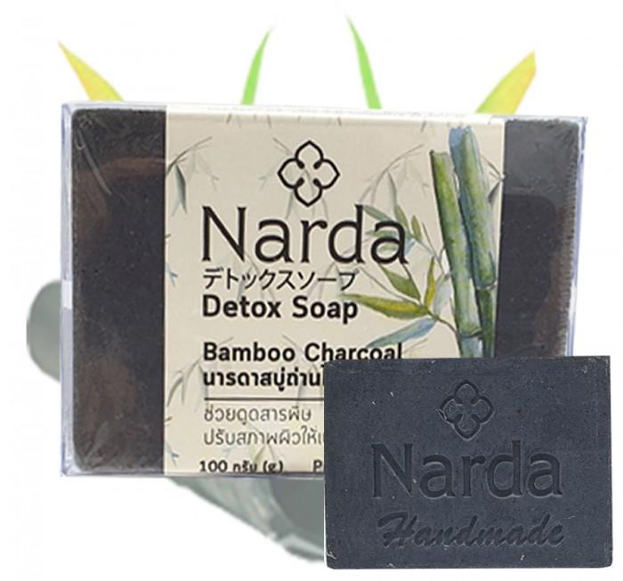 Косметика для мамы Narda Мыло с бамбуковым углем 100 г мыло кусковое knossos с активированным углем 100 г