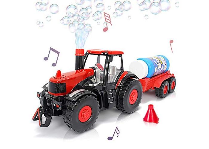 Мыльные пузыри Junfa Мыльные пузыри Трактор световые и звуковые эффекты