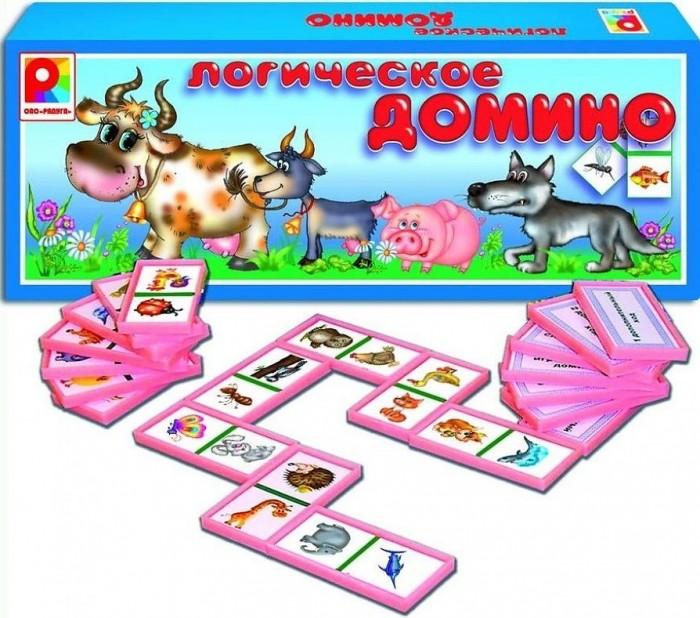 Настольные игры Радуга Логическое домино Животные