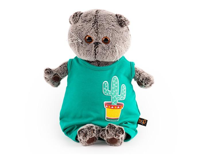Мягкая игрушка Budi Basa Басик в изумрудном комбинезоне с кактусом 19 см фото