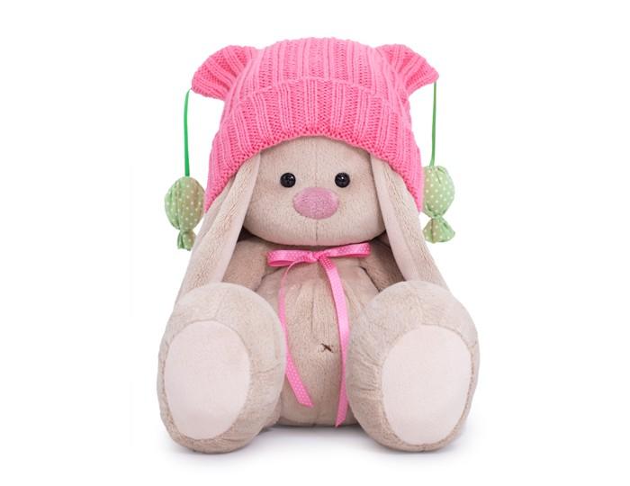 Мягкая игрушка Budi Basa Зайка Ми в розовой шапочке с помпонами 23 см фото