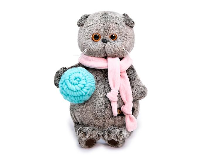 Мягкая игрушка Budi Basa Басик в шарфике и с клубком 25 см фото