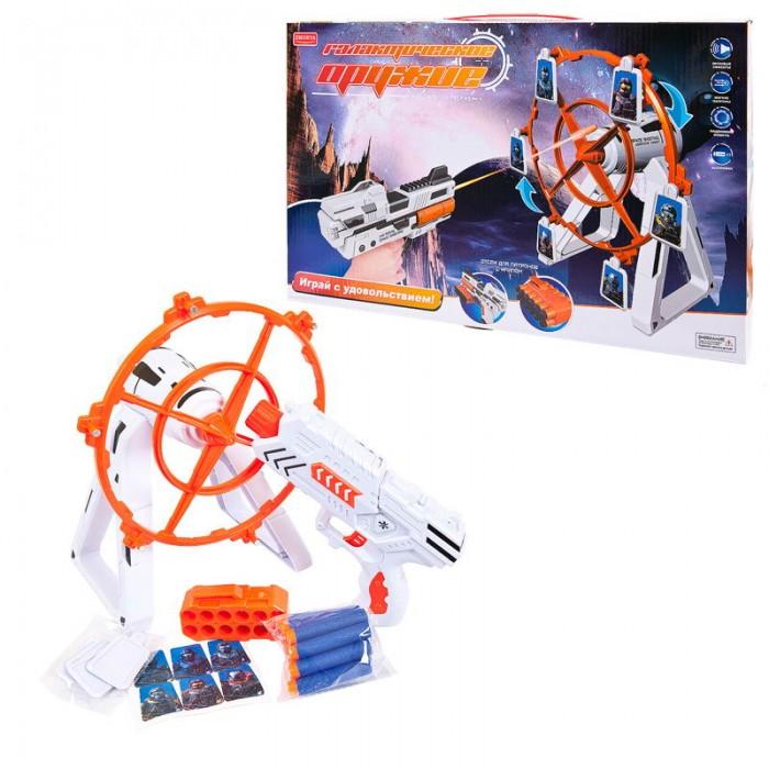 Фото - Игрушечное оружие Junfa Бластер с тиром Галактические оружие игрушечное оружие bondibon оружие с мягкими пульками револьвер 2 в 1