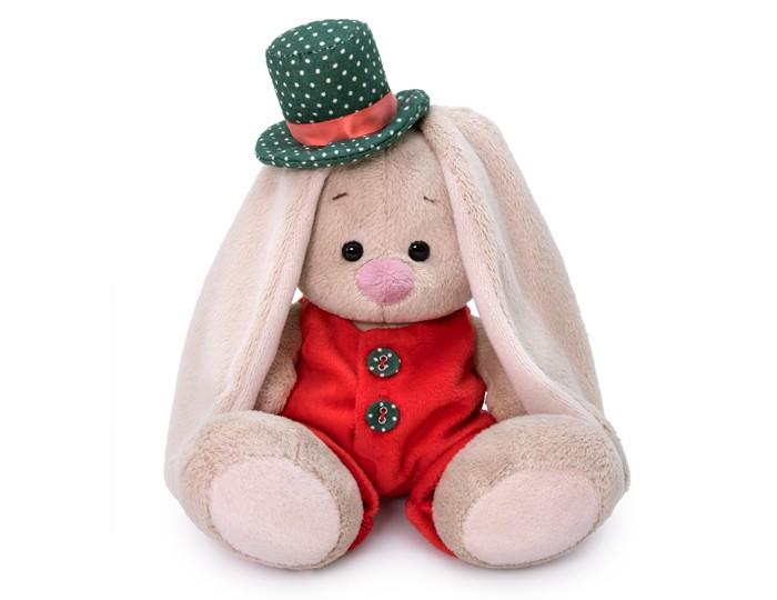 Купить Мягкие игрушки, Мягкая игрушка Budi Basa Зайка Ми в красном меховом комбинезоне 15 см