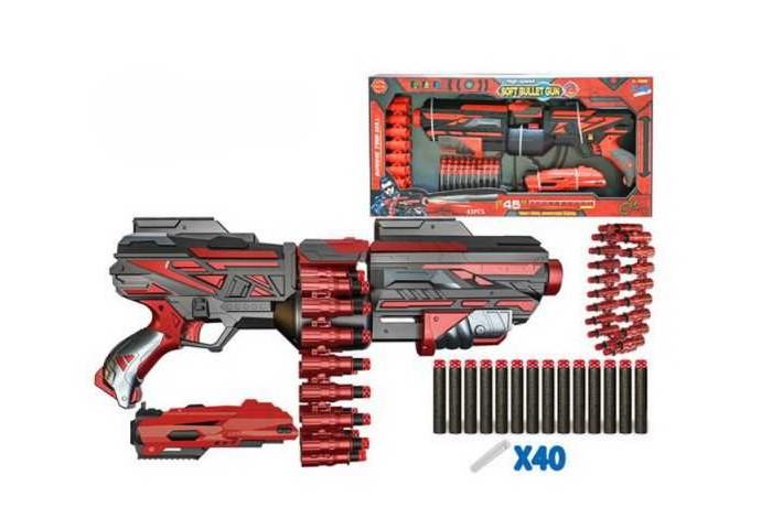 Junfa Бластер с мягкими снарядами 40 шт. FJ015