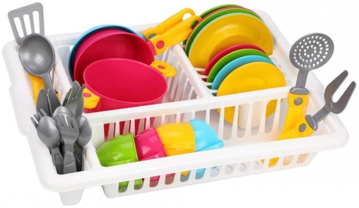 Фото - Ролевые игры Технок Набор посуды Кухонный №5 ролевые игры dolu кухонный набор с закрытой тележкой 18 элементов