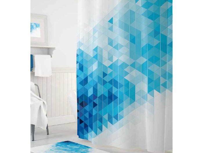 Купить Шторы для ванны, Tropikhome Шторы для ванн полиэстер Digital Printed Blue Squares 180х200 см