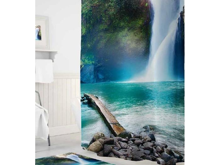 Купить Шторы для ванны, Tropikhome Шторы для ванн полиэстер Digital Printed Waterfall 180х200 см