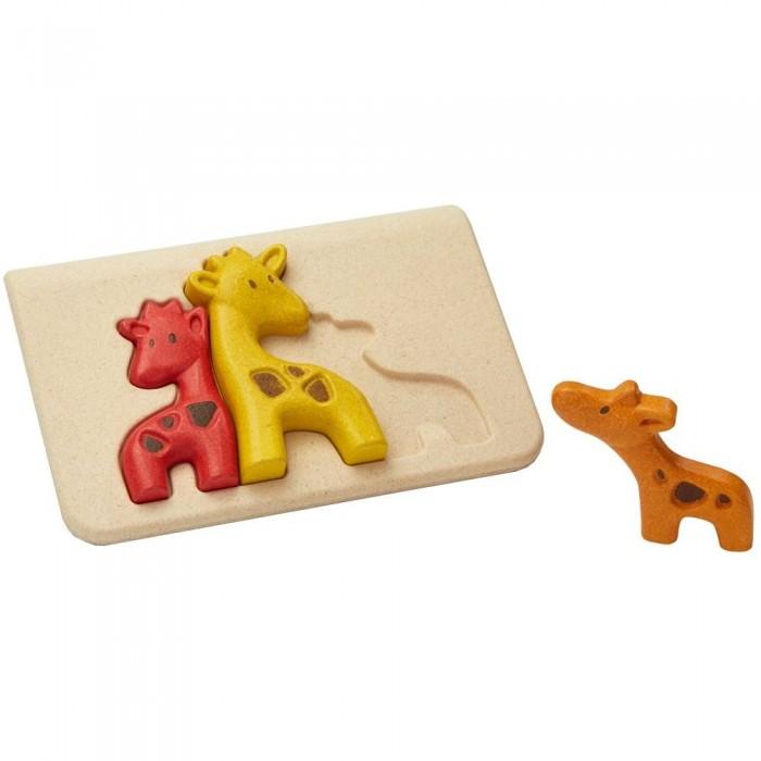Деревянные игрушки Plan Toys Пазл Жирафики plan toys верстак разноцветный