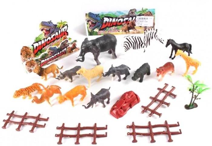 Фото - Игровые фигурки Наша Игрушка Набор фигурок Дикие животные с аксессуарами 14 шт. наша игрушка набор фигурок наша игрушка домашние животные с аксессуарами