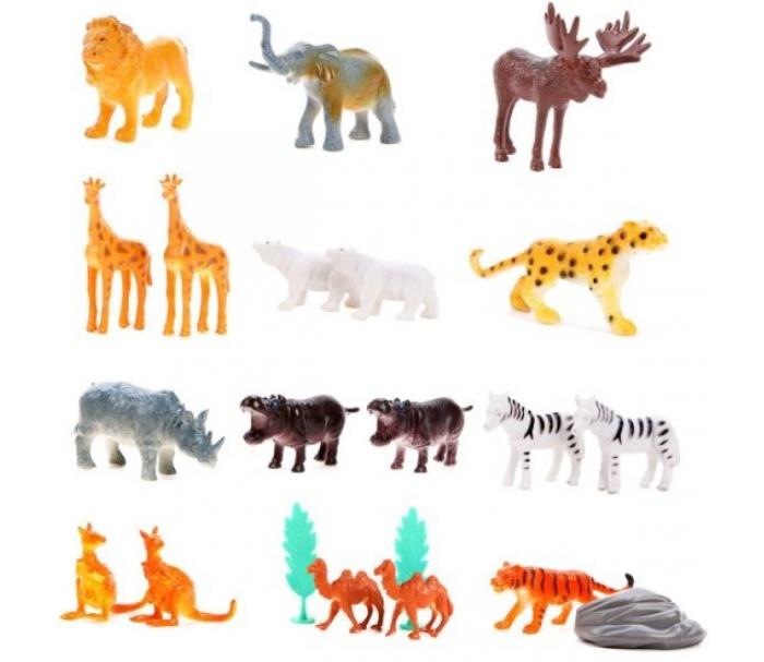 Фото - Игровые фигурки Наша Игрушка Набор фигурок Дикие животные в тубе 18 шт. наша игрушка набор фигурок наша игрушка домашние животные с аксессуарами
