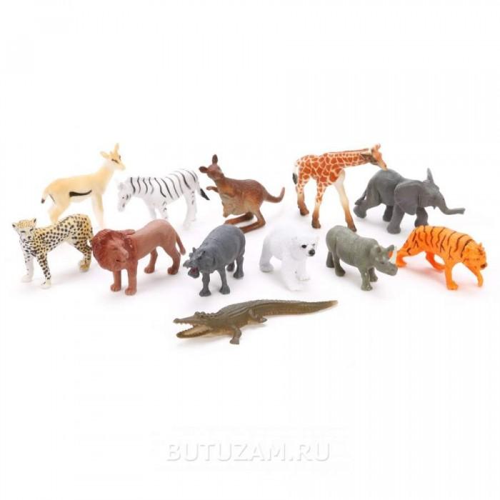 Игровые фигурки Наша Игрушка Набор фигурок Дикие животные Jungle animal 8 шт.