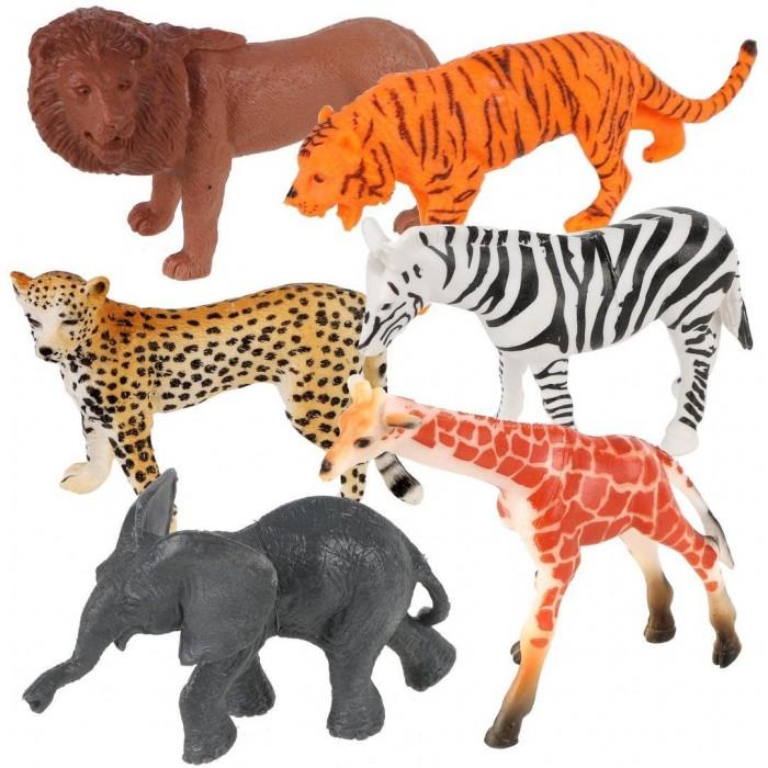 Фото - Игровые фигурки Наша Игрушка Набор фигурок Дикие животные Jungle animal 6 шт. наша игрушка набор фигурок наша игрушка домашние животные с аксессуарами