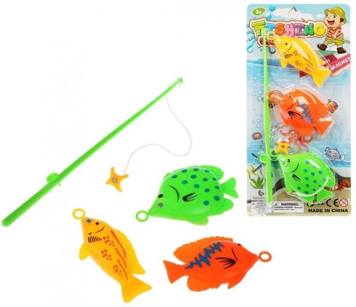 Фото - Игрушки для ванны Наша Игрушка Игровой набор Рыбалка удочка и 3 фигурки интерактивная игрушка наша игрушка рыбалка от 3 лет синий m7203