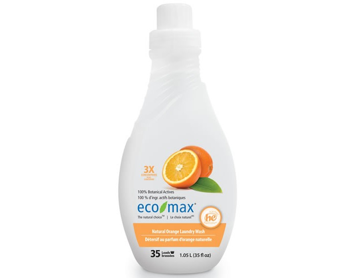 Бытовая химия Eco-Max Экстраконцентрированное средство для стирки Апельсин 1.05 л средство для мытья посуды eco max апельсин 740 мл