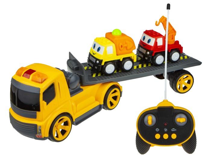 Купить Радиоуправляемые игрушки, 1 Toy Горстрой Машина тягач со стройтехникой на радиоуправлении