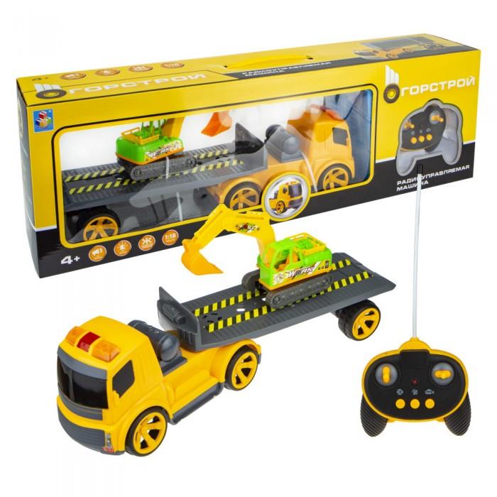 Купить Машины, 1 Toy Горстрой Машина тягач с экскаватором на радиоуправлении