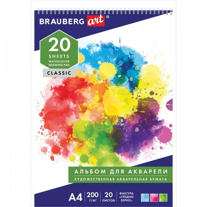 Принадлежности для рисования Brauberg Альбом акварели Старый город А4 20 листов