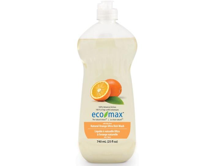 Бытовая химия Eco-Max Средство для мытья посуды Апельсин 740 мл attitude средство для мытья посуды без запаха eco baby