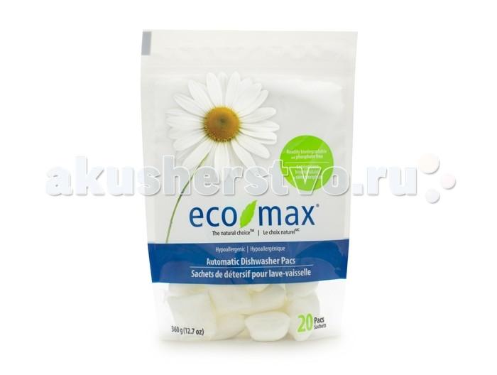 Бытовая химия Eco-Max Гипоаллергенные капсулы для посудомоечной машины 20 шт. бытовая химия xaax ополаскиватель для посудомоечной машины 500 мл