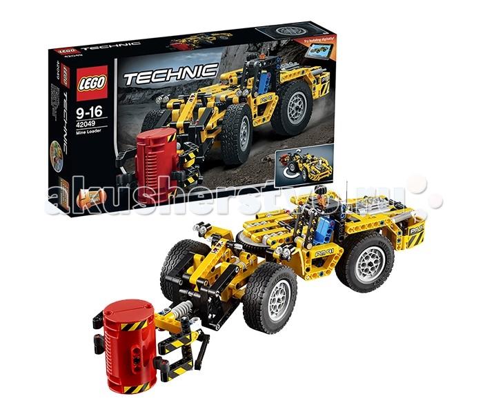 Конструктор Lego Technic 42049 Лего Техник Карьерный погрузчикTechnic 42049 Лего Техник Карьерный погрузчикКонструктор Lego Technic 42049 Лего Техник Карьерный погрузчик   Погрузчик из набора Лего 42049 станет незаменимым помощником во время добычи полезных ископаемых в открытых карьерах. Его прочный кузов, выполненный в классическом жёлто-чёрном цвете, разделён на две части. Сзади располагается кабина водителя с голубым креслом и сигнальными огнями. Рядом с ней закреплён специальный рычаг, отвечающий за реалистичное рулевое управление. Вращая его, можно задействовать передние колёса и заставить погрузчик ловко маневрировать даже на неровном грунте.   За кабиной виден вместительный моторный отсек. В нём установлен двухцилиндровый двигатель с активными поршнями и длинная выхлопная труба. Во время движения поршни ритмично поднимаются и опускаются, создавая эффект работающей трансмиссии, соединяющей мотор с ведущими колёсами.  Передняя часть погрузчика напоминает собой мобильную систему, состоящую из скреплённых между собой балок. Их основой служат два огромных колеса с рифлёными шинами. На фронте виден крепкий захват, способный переносить тяжёлые грузы. Управлять его действиями можно при помощи двух механизмов. Следуя наклейкам-подсказкам необходимо отрегулировать угол наклона противовеса, а, следовательно, и высоту захвата. Затем, подъехав к грузу, начать вращение колёсика, установленного между кабиной и двигателем. Оно приведёт в движение боковые рамки захвата и поможет надёжно зафиксировать груз между ними.  Размер карьерного погрузчика в собранном виде составляет 9х37х11 см.  При желании его можно переделать в машину для работы в шахте (11х39х13 см).  Количество деталей: 476 шт.<br>