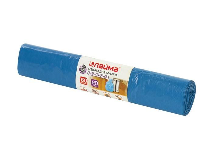 Хозяйственные товары Лайма Мешки для мусора 60 л 20 шт. мешки для мусора grass 60 л 30 шт 8 мкр черный pp 0021
