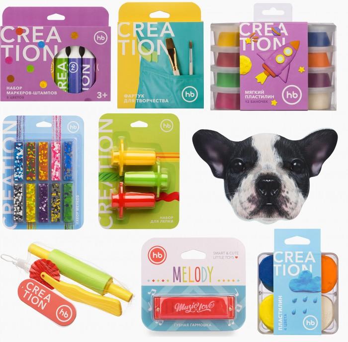 Наборы для творчества Happy Baby Набор Art home party Dog: маска, маркеры, мелки, пластилин, фартук, аксессуары