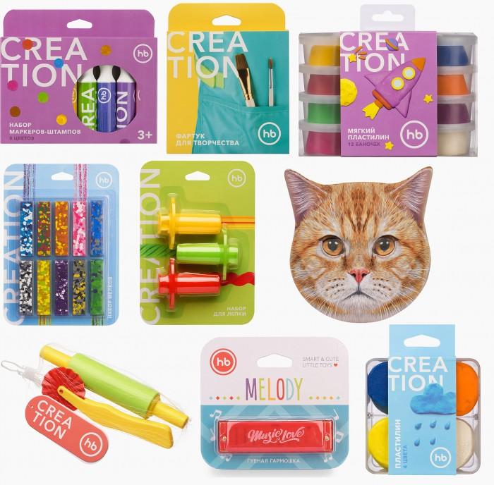 Наборы для творчества Happy Baby Набор Art home party Cat: маска, маркеры, мелки, пластилин, фартук, аксессуары