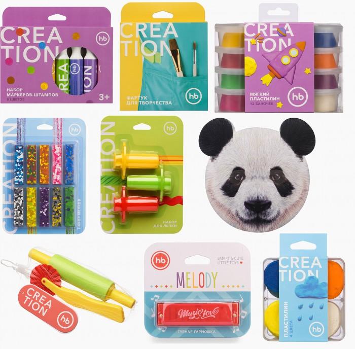 Наборы для творчества Happy Baby Набор Art home party Panda: маска, маркеры, мелки, пластилин, фартук, аксессуары