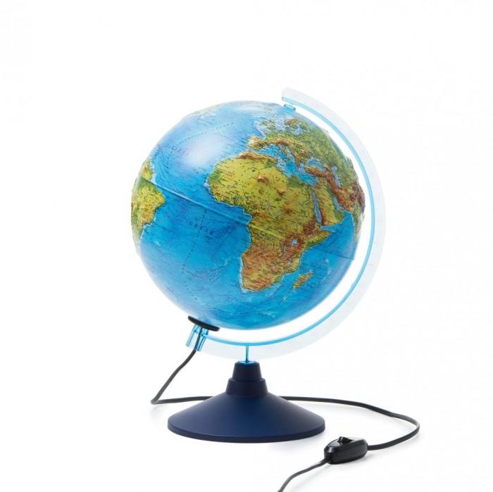Глобусы Globen Глобус Физико-политический рельефный с подсветкой 250 мм
