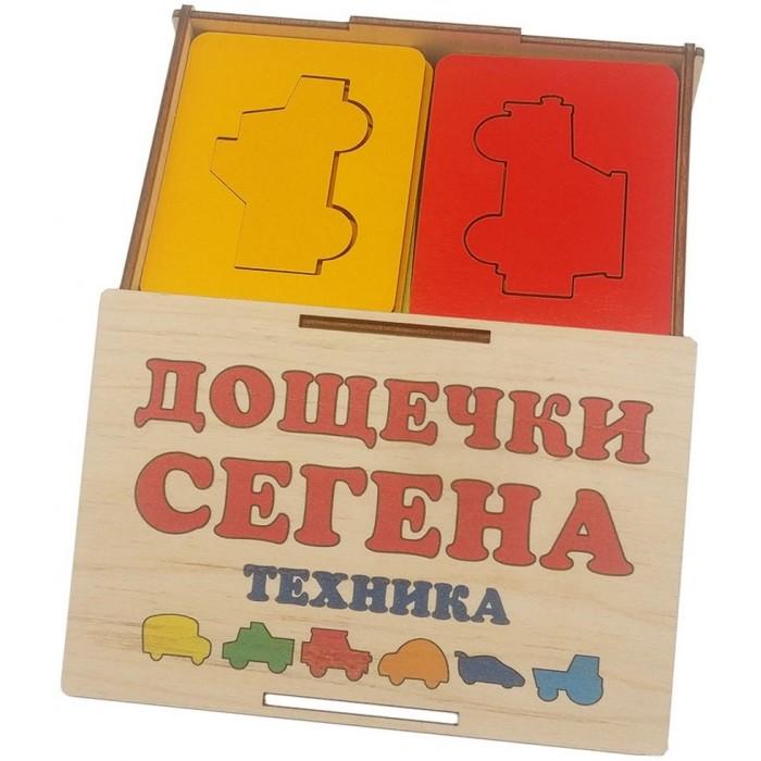 Деревянные игрушки Tau Toy Доски Сегена Техника 70х90 мм (18 элементов)