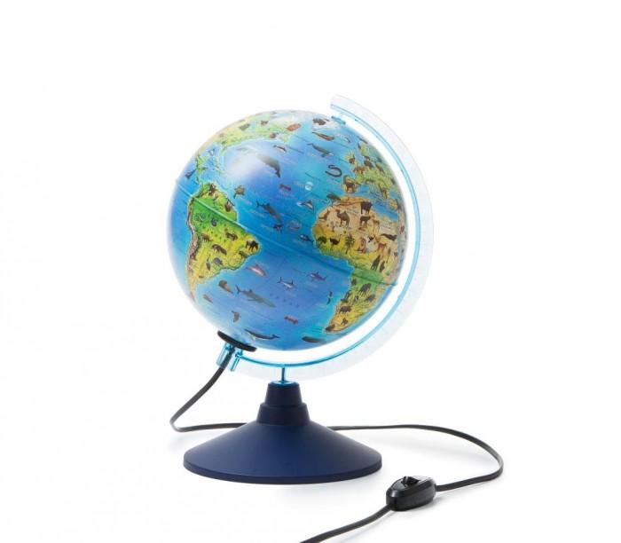 Globen Глобус Земли интерактивный зоогеографический с подсветкой и очками VR 210 мм Глобус Земли интерактивный зоогеографический с подсветкой и очка