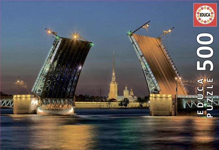 Пазлы Educa Пазл Развод Дворцового моста в Санкт-Петербурге (500 деталей)