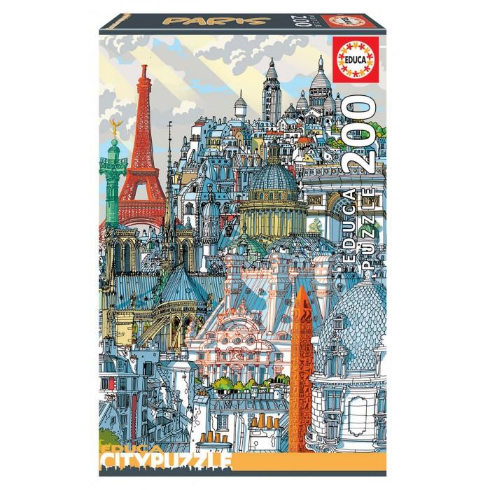 Купить Пазлы, Educa Пазл Париж (200 деталей)