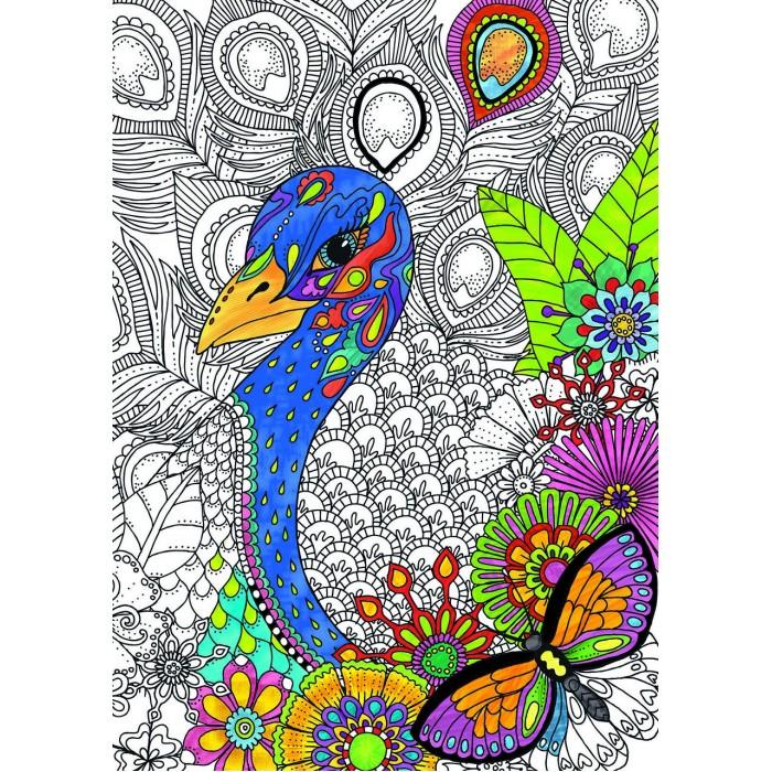 Фото - Пазлы Educa Пазл-раскраска Джунгли (300 деталей) разноцветные джунгли раскраска с наклейками