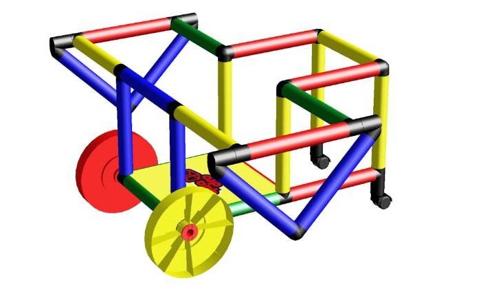 Quadro Конструктор крупногабаритный My First Quadro с дополнительными колесами Конструктор крупногабаритный My First Quadro с дополнительными к