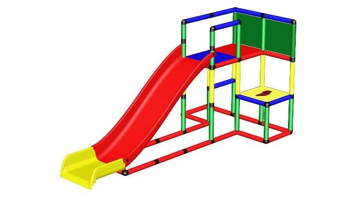 Спортивные комплексы Quadro Конструктор крупногабаритный Starter с модульной горкой