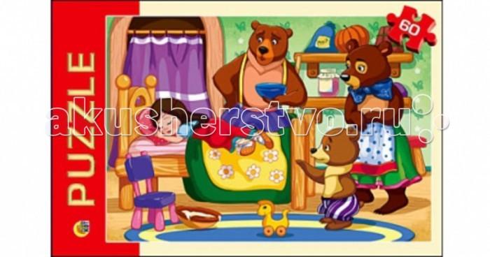 Пазлы Рыжий кот Пазлы Три медведя (60 элементов) три медведя три медведя кофточка happy animals молочная с мишкой