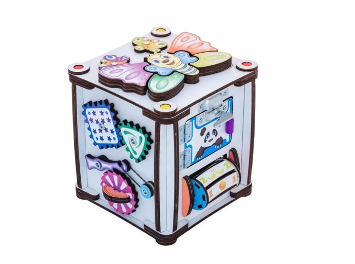 Деревянная игрушка Iwoodplay Бизиборд кубик Зверушки 17х17х18 см
