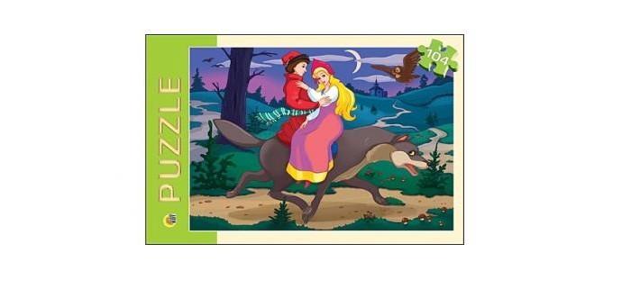 Пазлы Рыжий кот Пазлы Иван царевич и серый волк (104 элемента) пазлы бомик мозаика собака 104