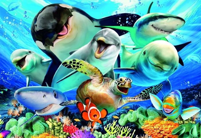 Купить Пазлы, Educa Пазл Подводное селфи (500 деталей)