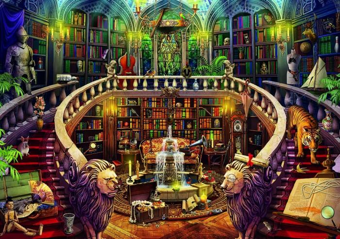 Пазлы Educa Загадочный пазл Старая библиотека (500 деталей)