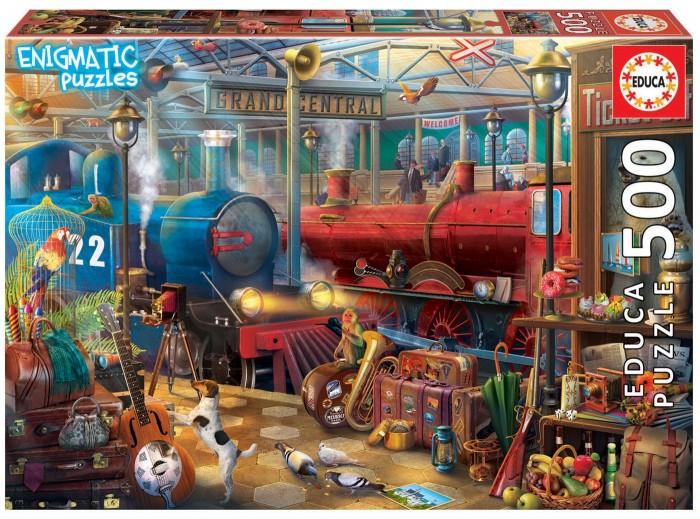 Фото - Пазлы Educa Загадочный пазл Железнодорожная станция (500 деталей) пазлы educa пазл мое секретное место 500 деталей