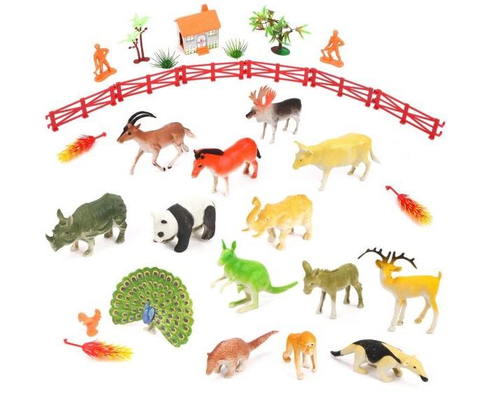 Фото - Игровые фигурки Наша Игрушка Набор фигурок животных с аксессуарами и игровым полем наша игрушка набор фигурок наша игрушка домашние животные с аксессуарами