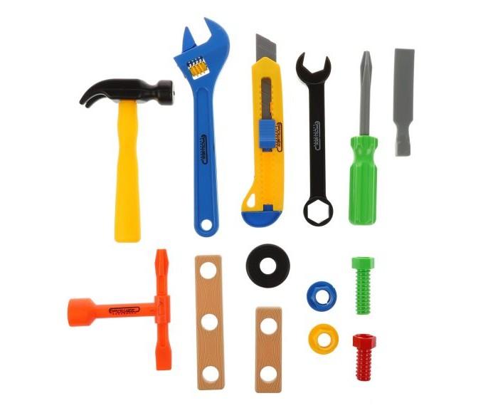 Ролевые игры Наша Игрушка Набор инструментов 333-4 (14 предметов) набор инструментов 1 4 и 1 2 6 гранный 85 предметов jtc h085c b72