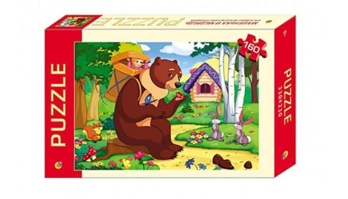 Пазлы Рыжий кот Пазлы Маша и медведь (160 элементов) цена 2017