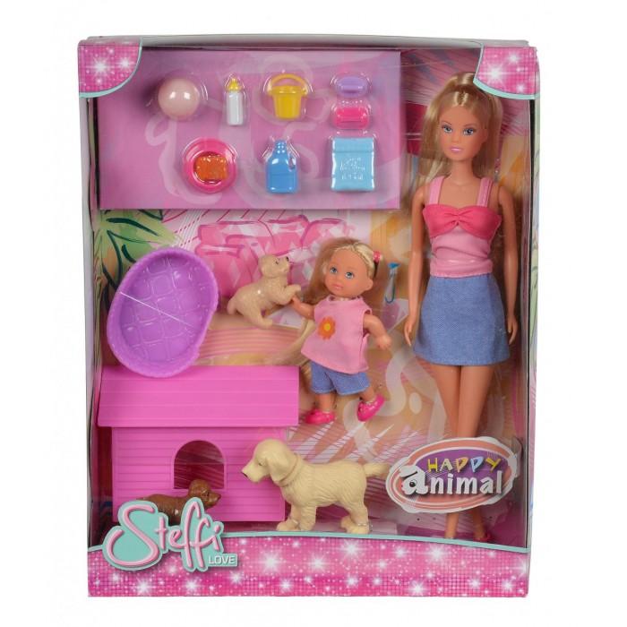 Куклы и одежда для кукол Steffi Кукла и Еви с собачками