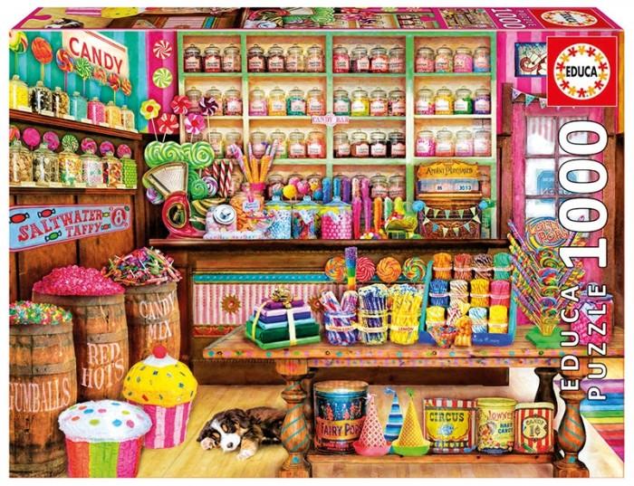 Фото - Пазлы Educa Пазл Магазин сладостей (1000 деталей) пазл educa мир банкнот 1000 деталей