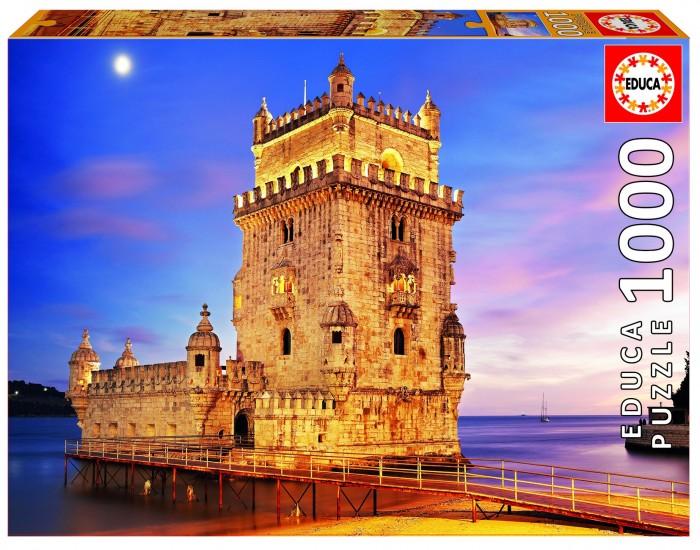 Пазлы Educa Пазл Башня Белен, Лиссабон (1000 деталей)